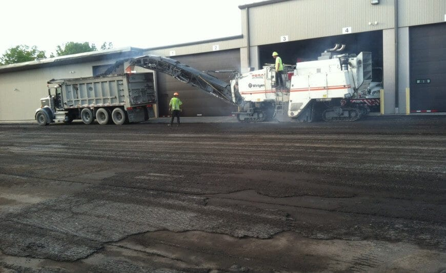 Asphalt milling for new asphalt application near Cleveland