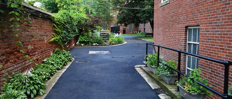 An asphalt paving job we completed for Moreland Courts Condominiums.