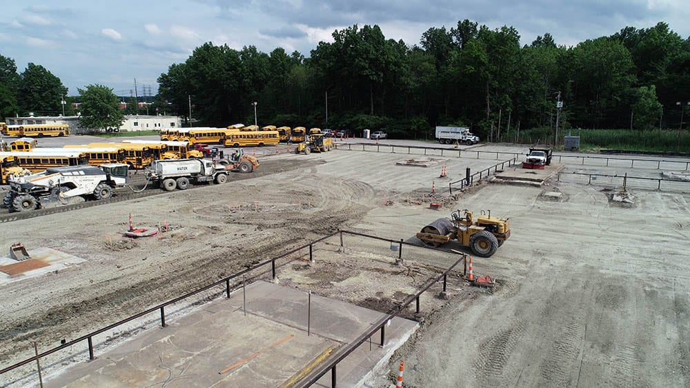 New Parking Lot Construction