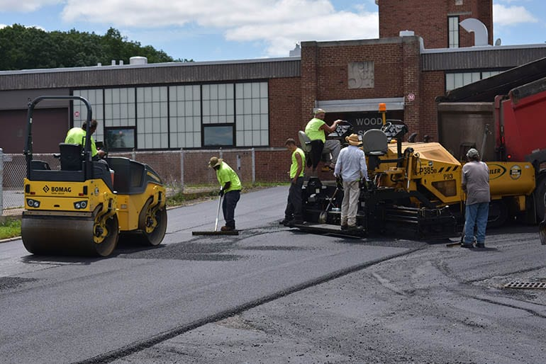 Ohio Paving & Construction's crew working through a resurfacing job near Cleveland.