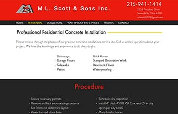 M.L. Scott & Sons Inc.